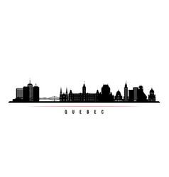 Quebec skyline horizontal banner black and white vector