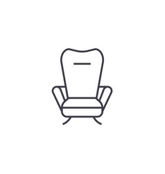 recliner line icon sign on vector image
