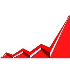 Red arrow graph goes up vector