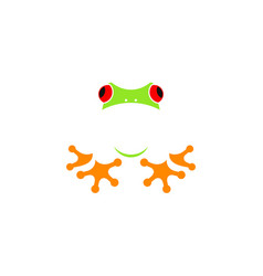 red eyed tree frog logo vector image
