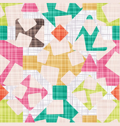 retro design fabric with geometric shapes vector image