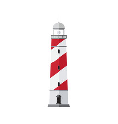 sea beacon flat sign searchlight tower vector image