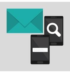 Search design lupe icon marketing concept vector image
