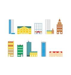 set buildings vector image