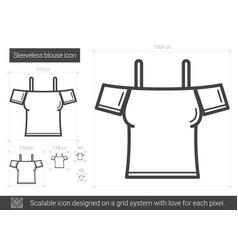 Sleeveless blouse line icon vector