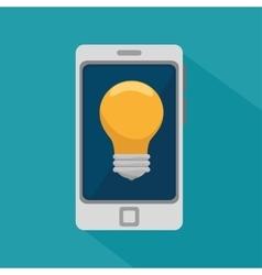 Smartphone bulb idea innovation design vector