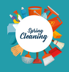 Spring cleaning design vector