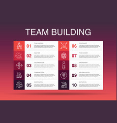 Team building infographic 10 option template vector