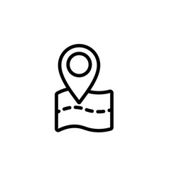 Thin line pin point location icon vector