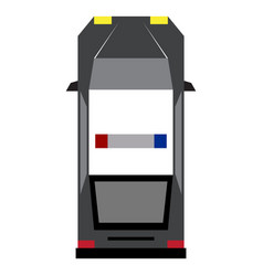top view of a police car vector image
