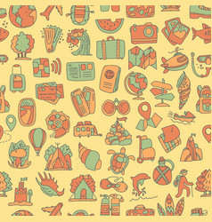Travel and summer seamless pattern journey and vector