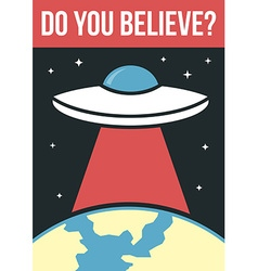 UFO poster vector image