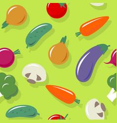 Vegetables seamless pattern healthy organic vector