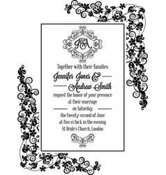 Vintage delicate formal invitation card royalty free vector vintage delicate formal invitation card vector image vector image stopboris Image collections