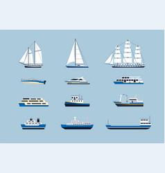 Water transport - modern flat design icons vector