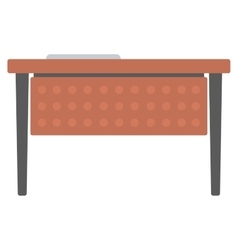 Wooden writing desk vector image