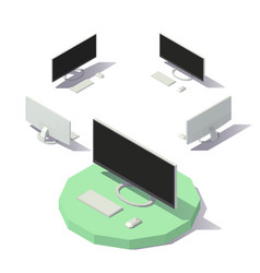 computer with screen vector image