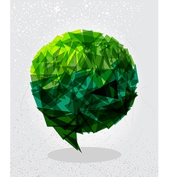 Green social bubble shape vector image vector image