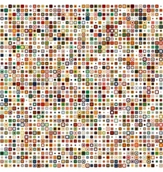 Seamless color geometric pattern vector image