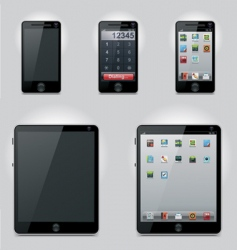 tablet computer and phone vector image vector image