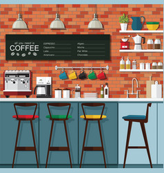 coffee bar design vector image vector image
