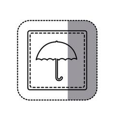 figure emblem umbrella icon vector image vector image