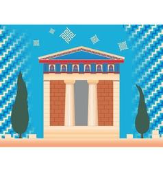 greek ancient treasury vector image
