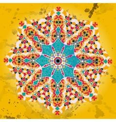 Oriental mandala motif brown blue vector image