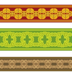 swirl ethnic border vector image vector image