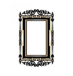 Baroque Golden Rococo frame decor vector image