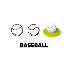 Baseball icon in different style vector image vector image