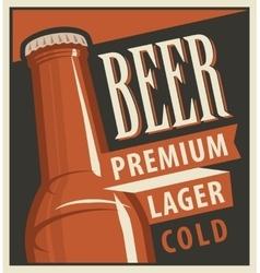beer in retro style vector image vector image