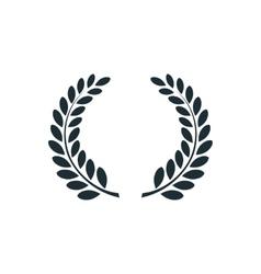 Laurel wreath simple concept logo vector image vector image