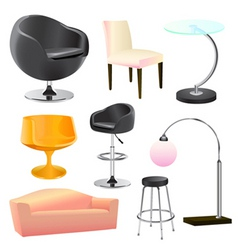 furniture objects vector image vector image