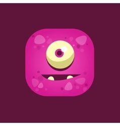 Hopeful Purple Monster Emoji Icon vector image vector image