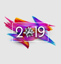 2019 new year festive background with colorful vector