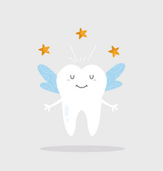 A funny tooth fairy vector