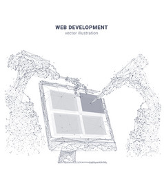 Abstract web development concept vector