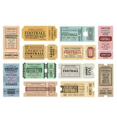 american football tickets set vector image