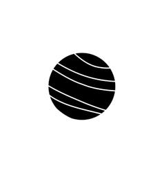 Ball silhoutte vector