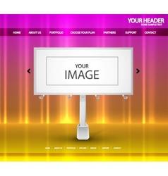 billboard web page vector image