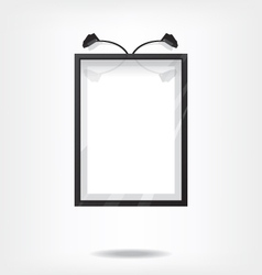 Black frame on wall vector image