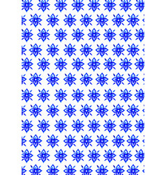 blue flowers traditional thai art pattern paint vector image