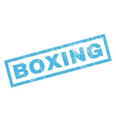 Boxing Rubber Stamp vector image