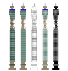 Bt tower in front view vector
