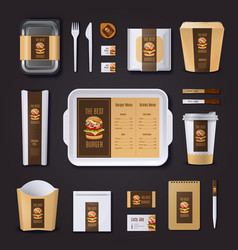 Burger Bar Corporate Identity vector