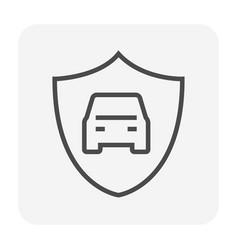 car security icon vector image