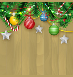 christmas and new year wishes with colored vector image