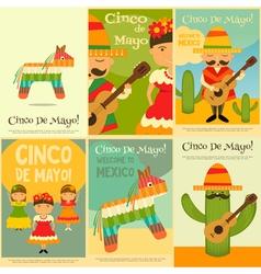 Cinco de mayo posters vector