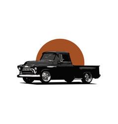 Classic car pick up design vector
